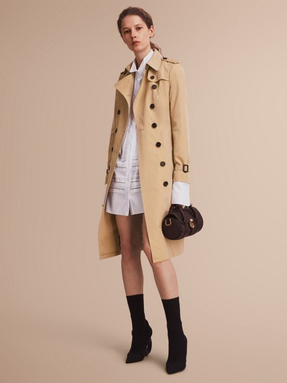 The Sandringham – Trench-coat Heritage extra-long Miel