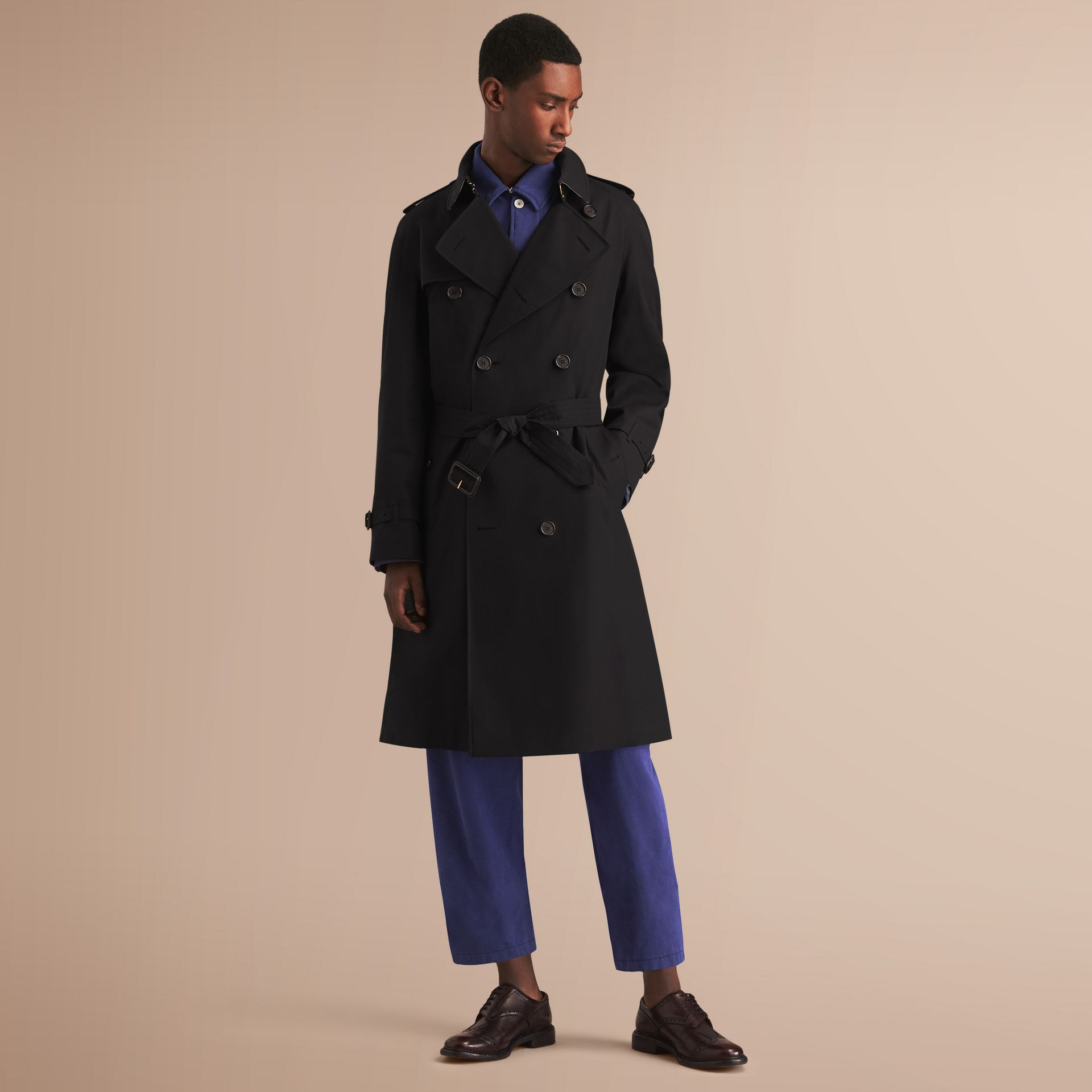 The Westminster – Long Heritage Trench Coat Black - gallery image 8
