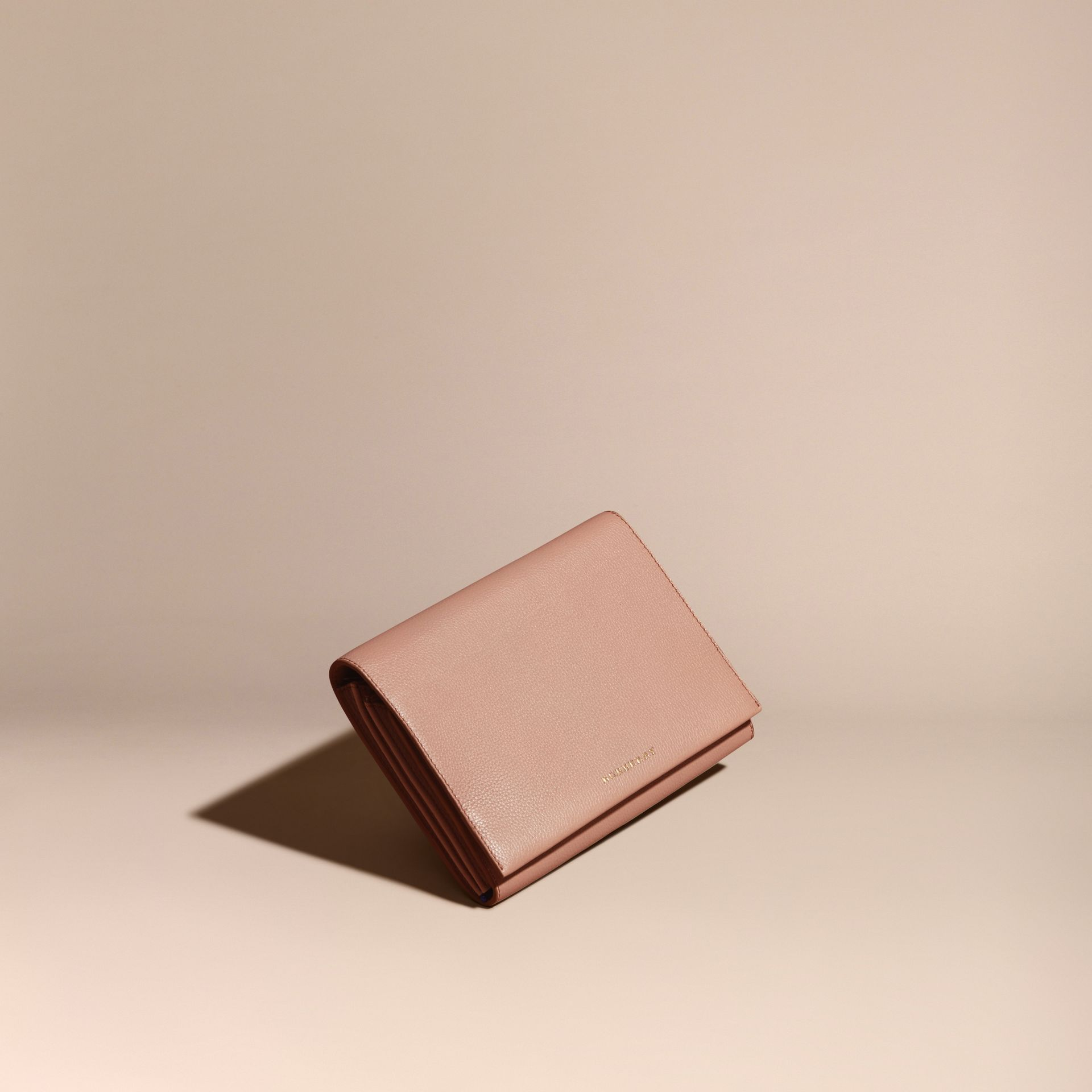 Pale apricot Grainy Leather Travel Wallet Pale Apricot - gallery image 1