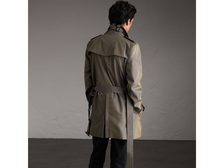 Cotton Gabardine Trench Coat in Storm Blue - Men | Burberry United Kingdom - cell image 1