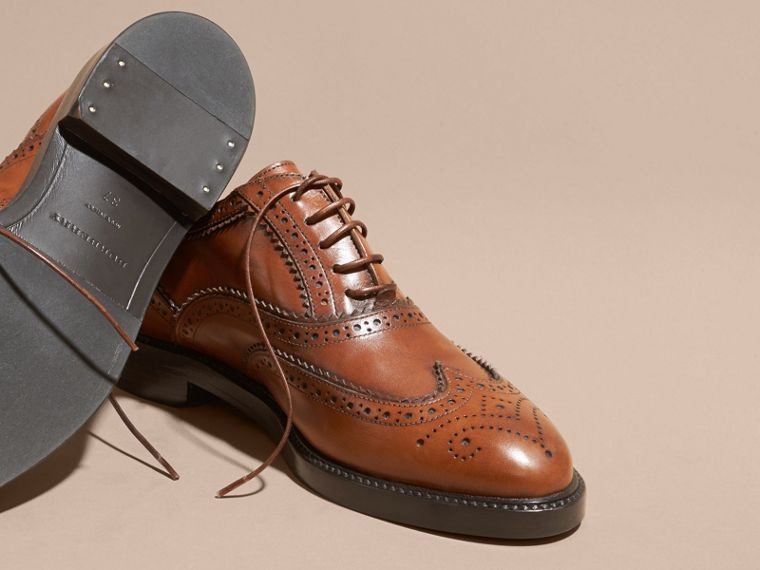 Bright camel Leather Wingtip Brogues Bright Camel - cell image 4