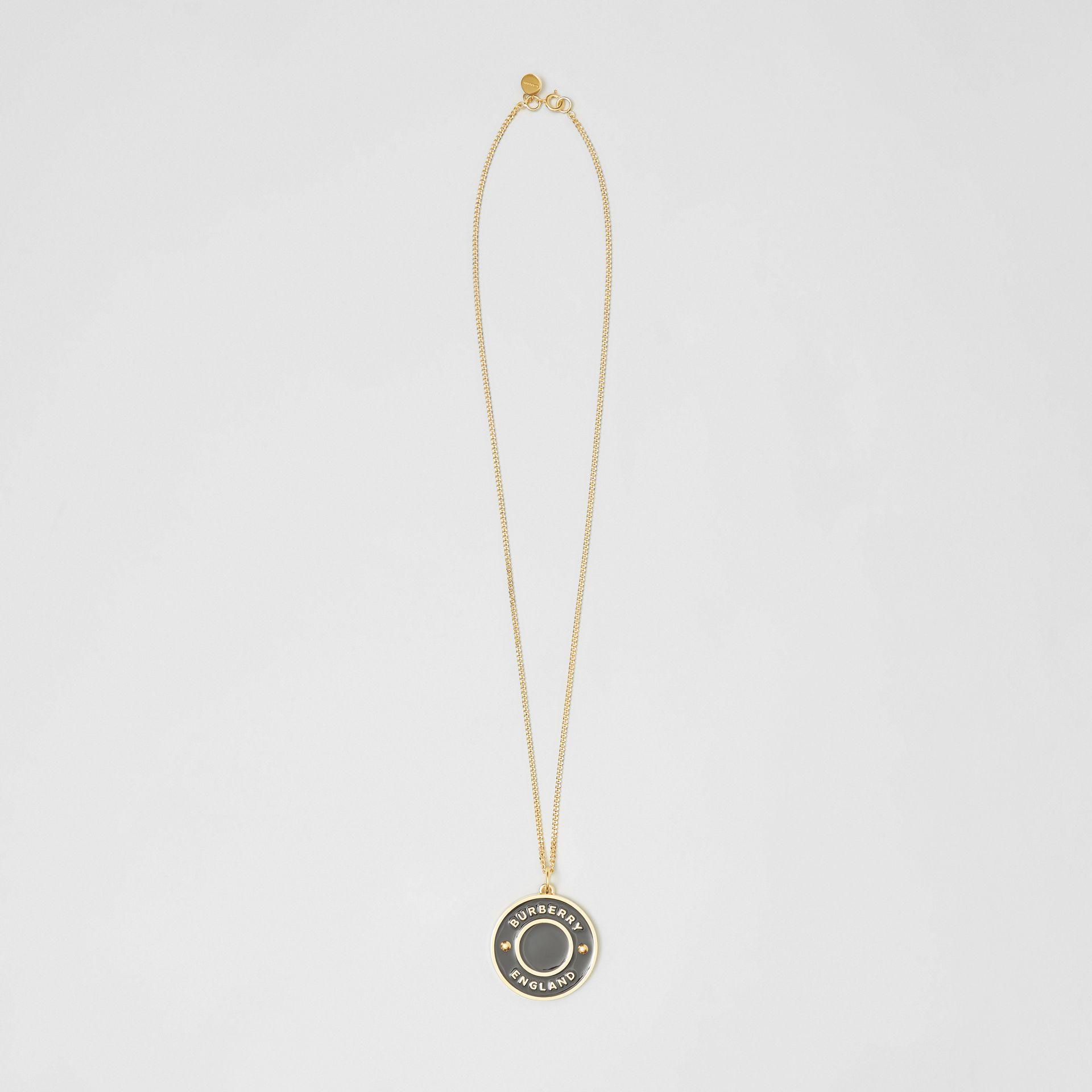Logo Medallion Gold-plated Chain Necklace in Light Gold/enamel - Women | Burberry - gallery image 0