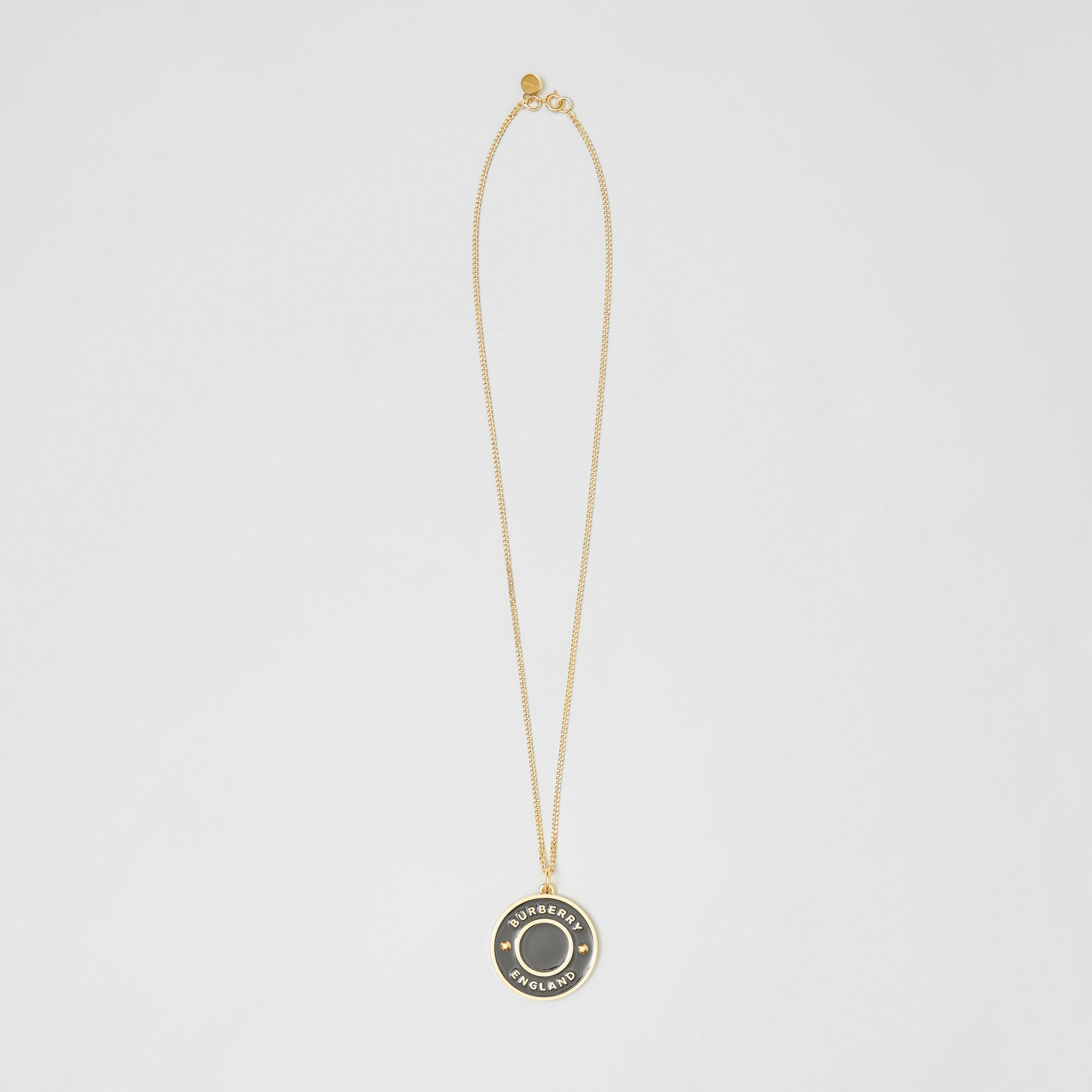 Logo Medallion Gold-plated Chain Necklace in Light Gold/enamel - Women | Burberry - 1