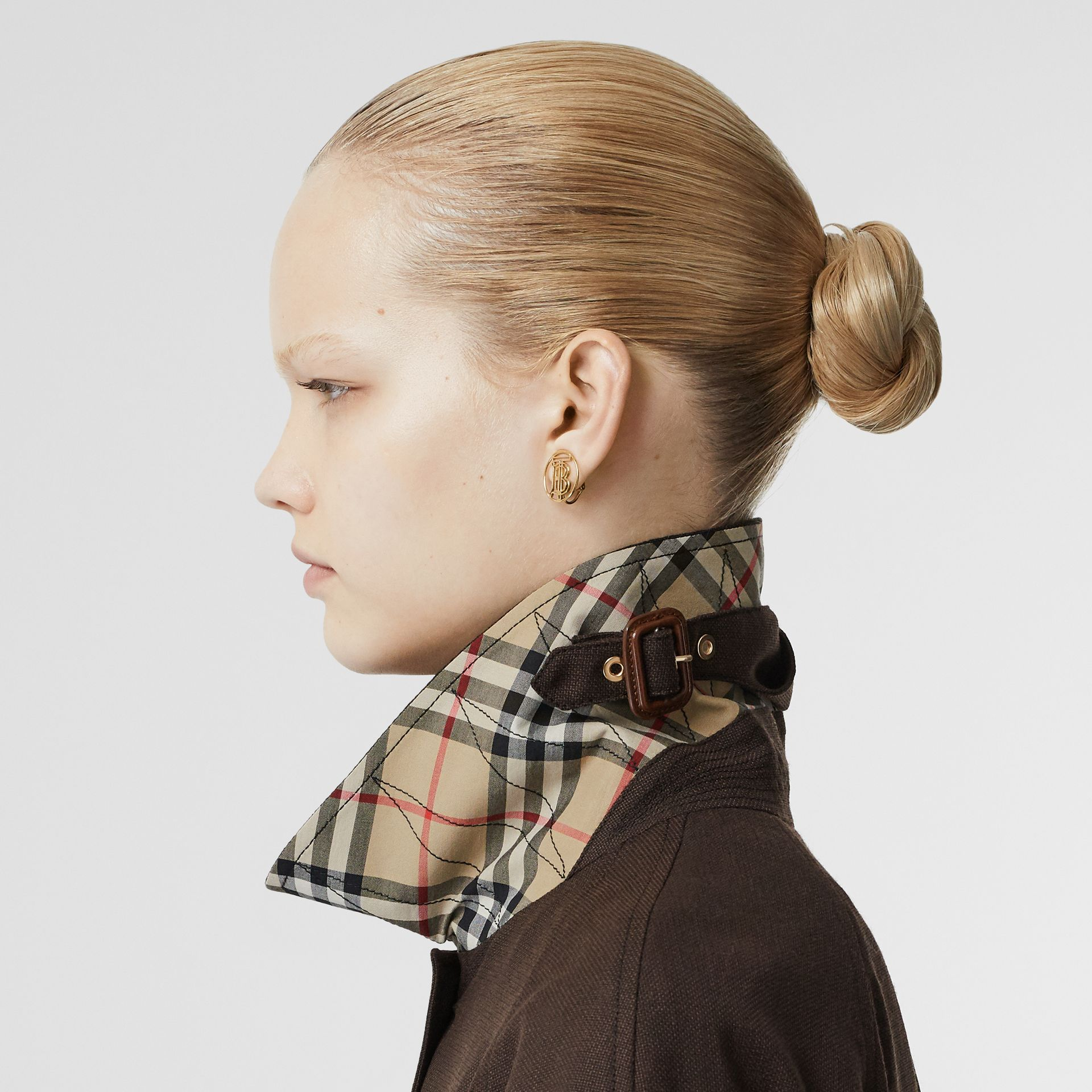 Scarf Detail Wool Car Coat in Coffee - Women | Burberry - gallery image 5
