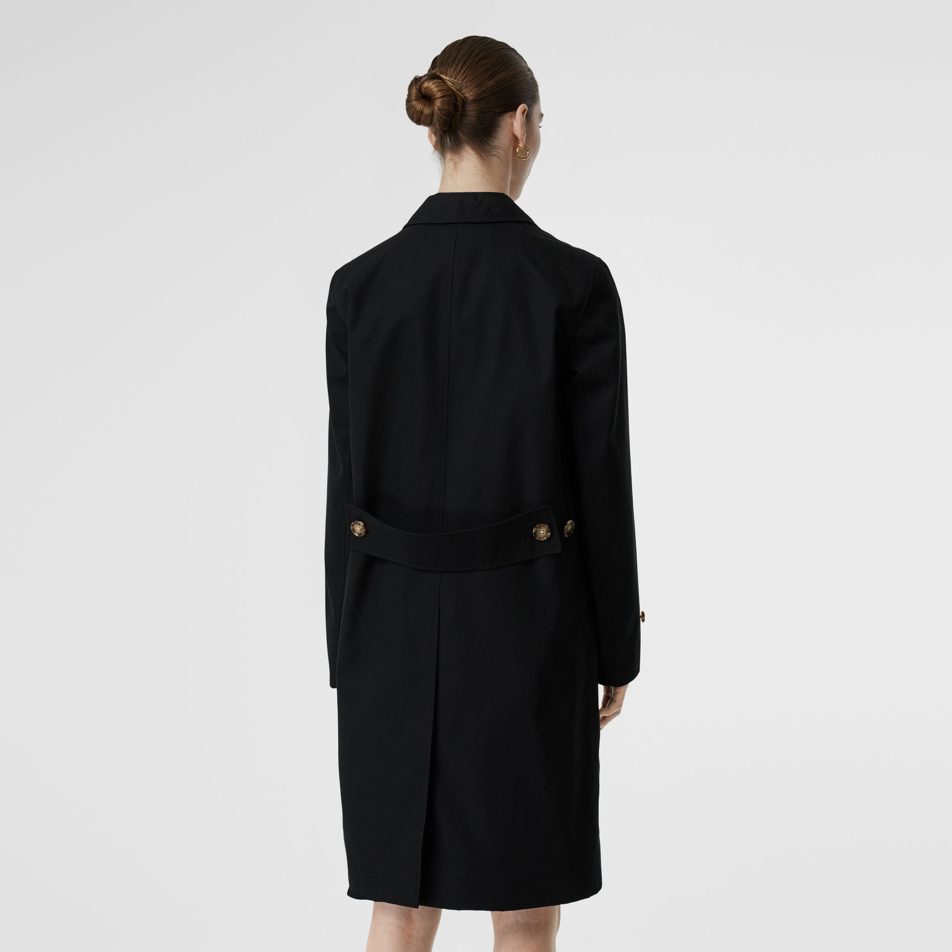 Cotton Gabardine Lab Coat in Black - Women | Burberry Australia - gallery image 2