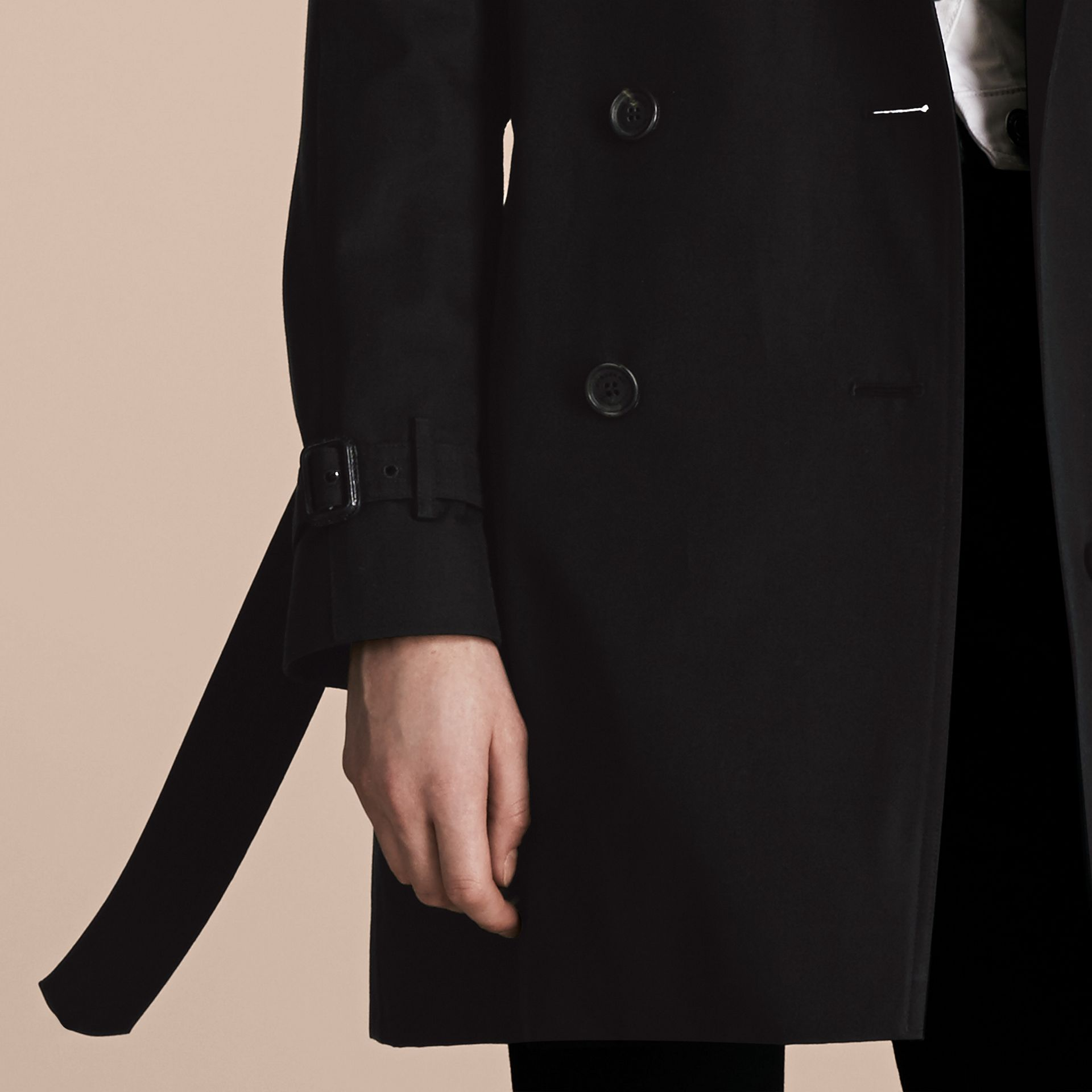 Black The Westminster – Mid-Length Heritage Trench Coat Black - gallery image 6