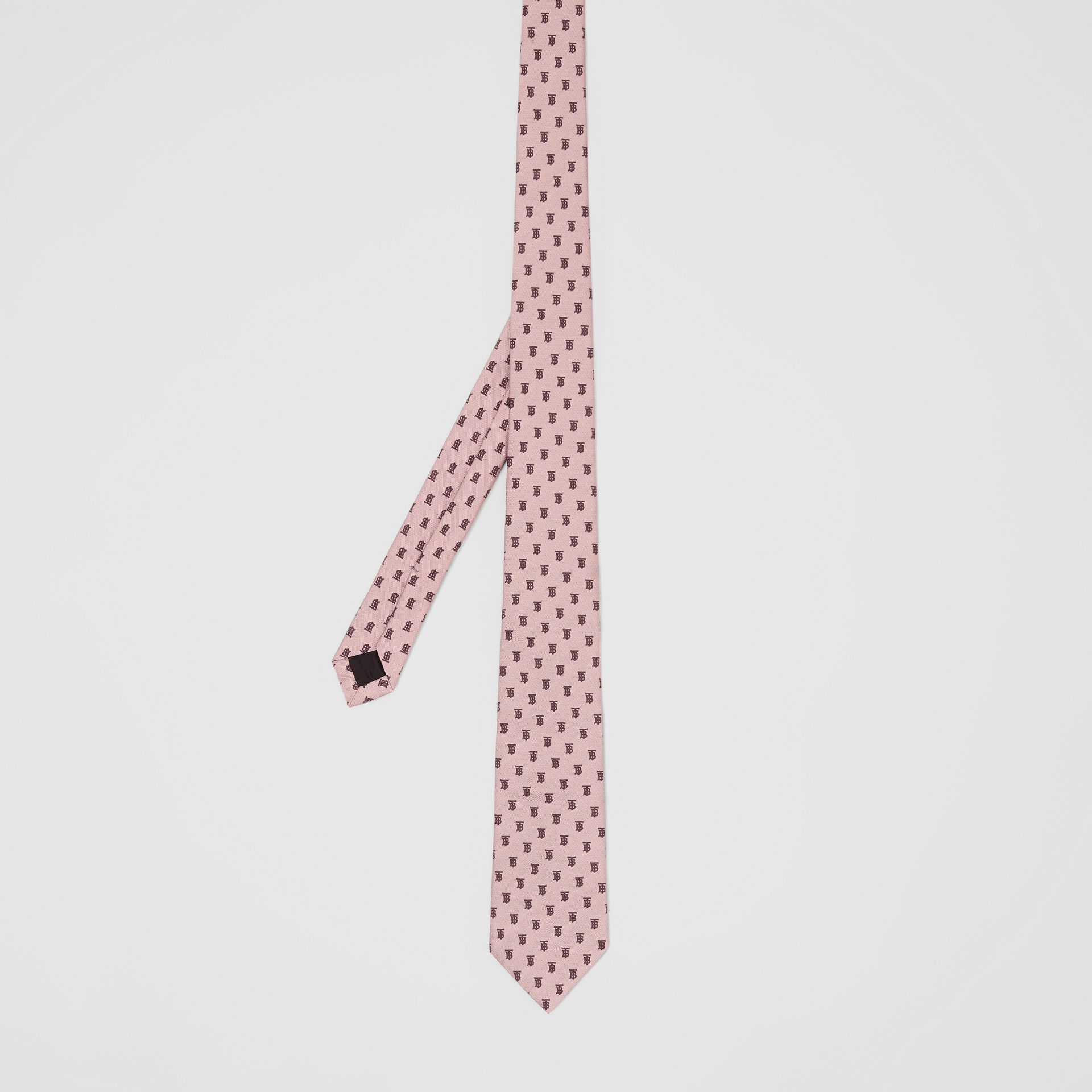 Classic Cut Monogram Silk Jacquard Tie in Pale Pink - Men | Burberry - gallery image 4