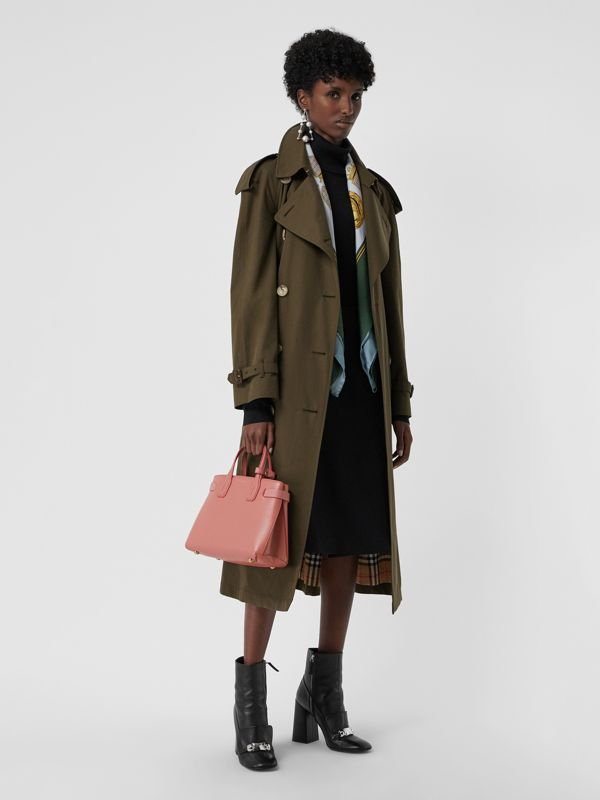 The Small Banner in Leather and Vintage Check in Dusty Rose - Women | Burberry Australia - cell image 2