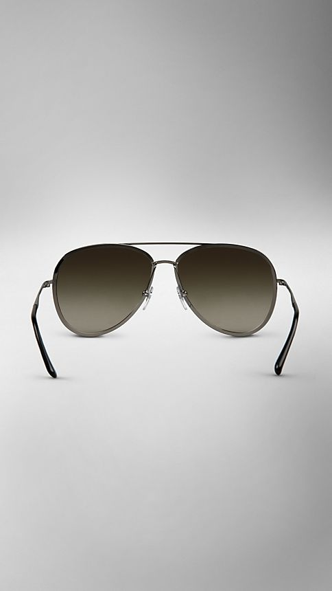 Nickel Metal Aviator Sunglasses - Image 3