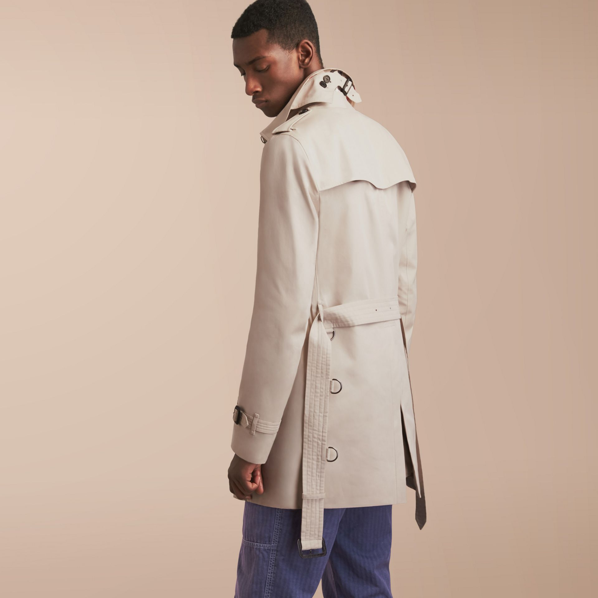 The Kensington – Mid-Length Heritage Trench Coat in Stone - gallery image 3
