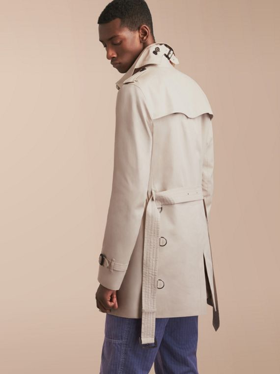 The Kensington – Mid-Length Heritage Trench Coat in Stone - Men | Burberry - cell image 2