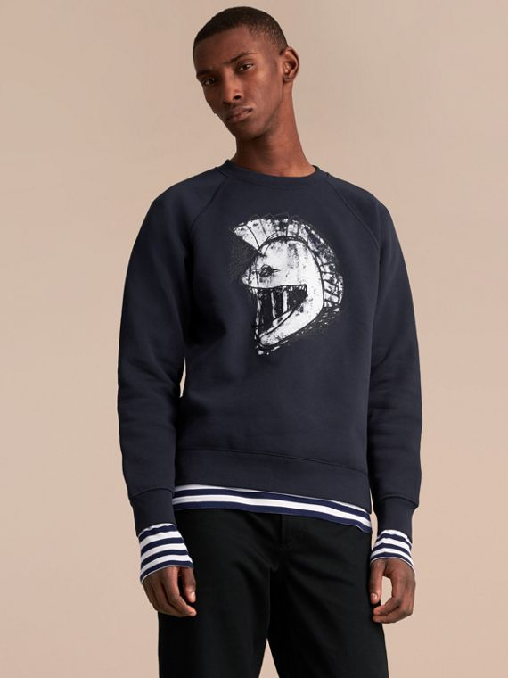 Unisex Pallas Helmet Motif Sweatshirt - Men | Burberry Singapore