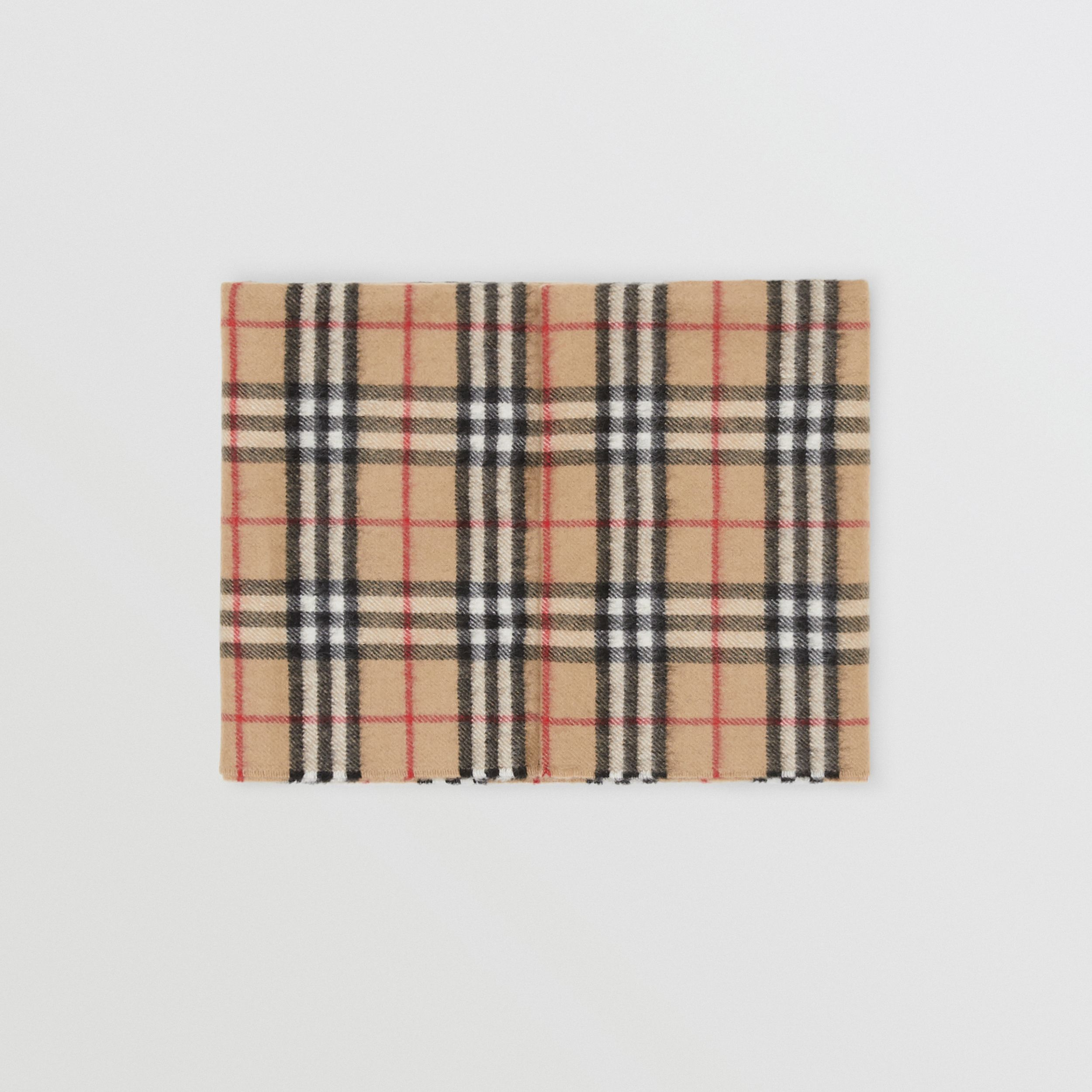 Vintage Check Cashmere Snood in Archive Beige - Children | Burberry - 1