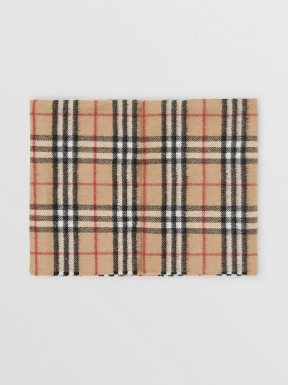 Snood de cashmere com estampa Vintage Check (Bege)