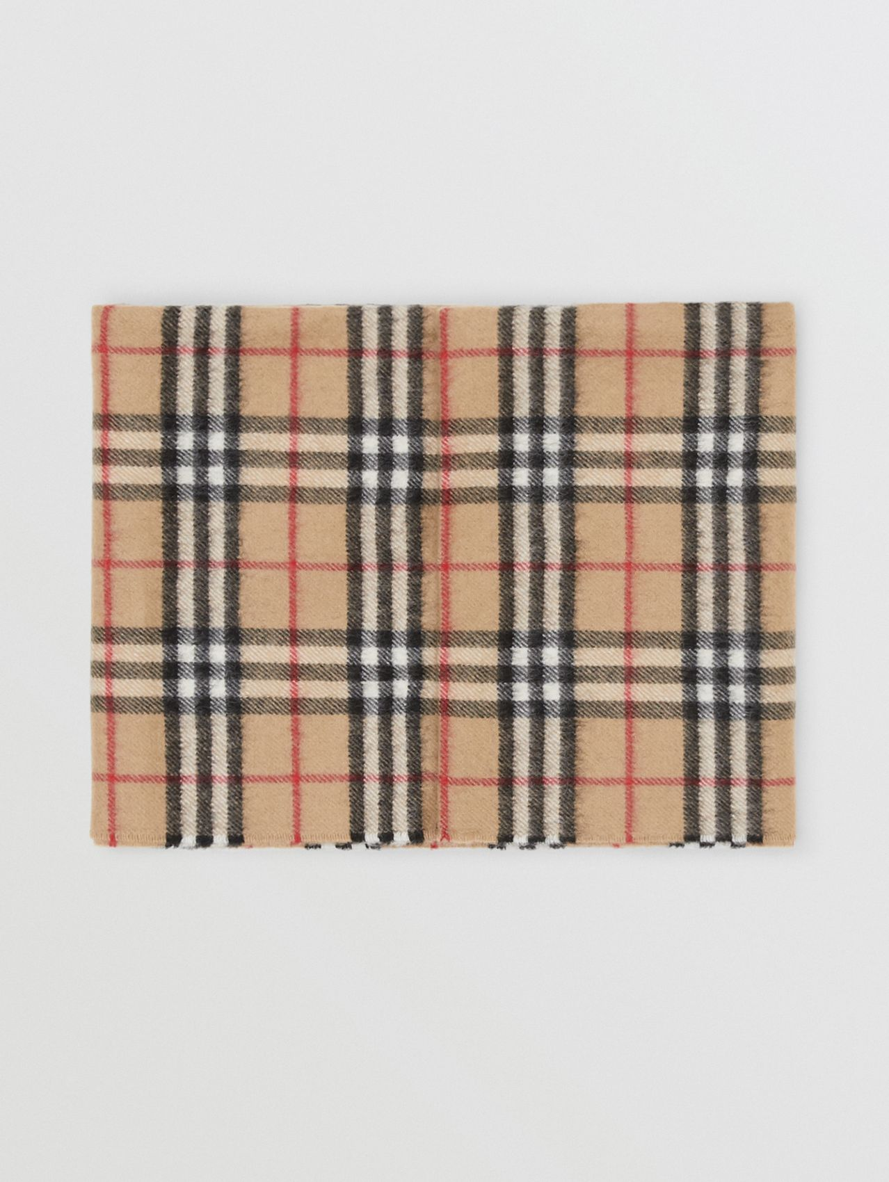 Vintage Check Cashmere Snood (Archive Beige)