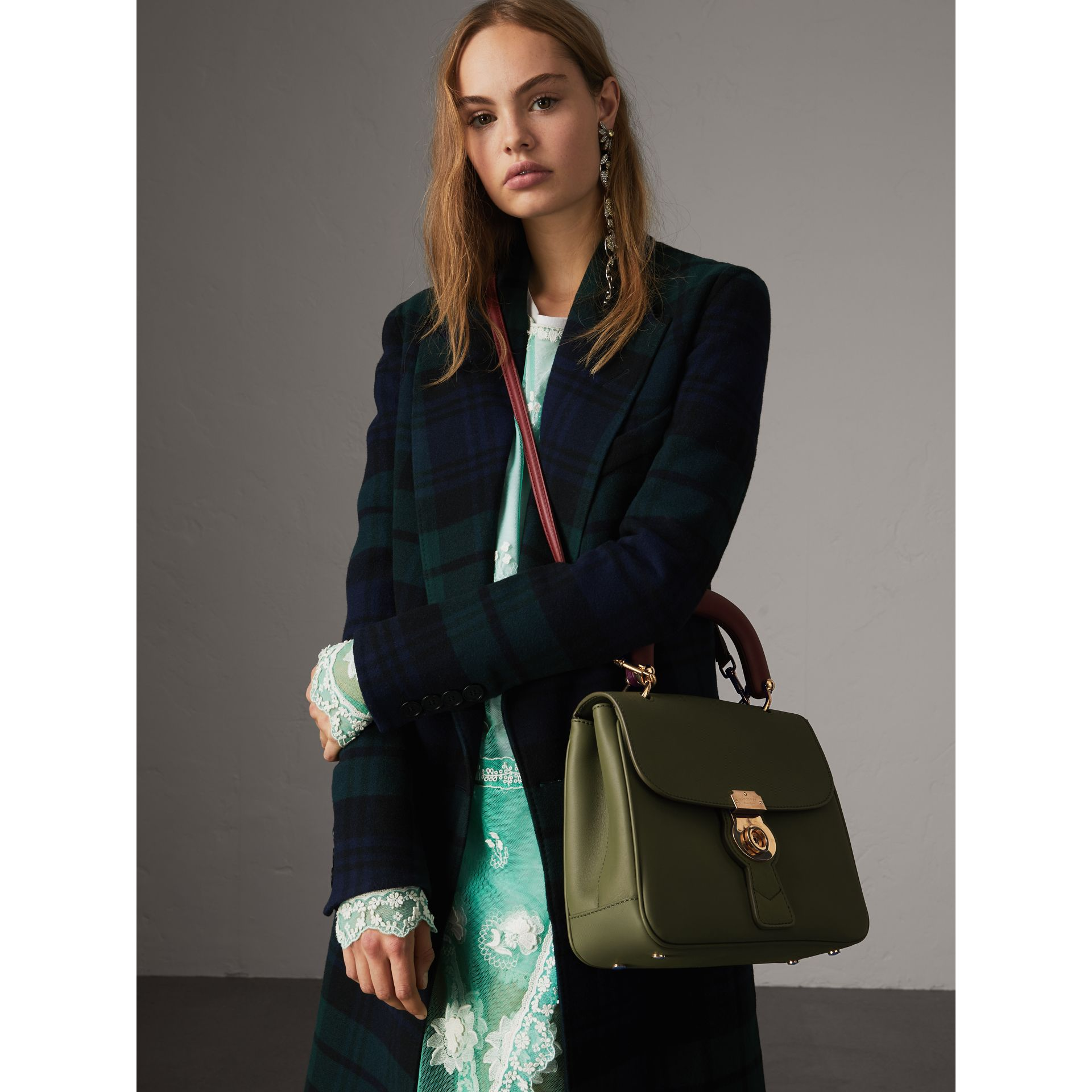 The Medium DK88 Top Handle Bag in Moss Green - Women | Burberry Canada - gallery image 2