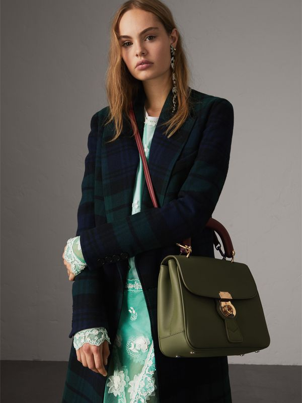 The Medium DK88 Top Handle Bag in Moss Green - Women | Burberry - cell image 2