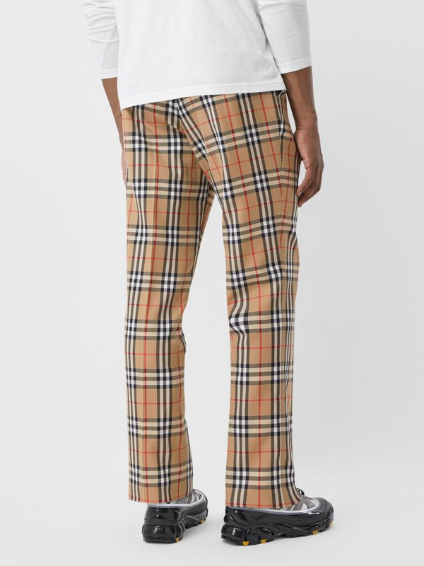 Vintage Check Wool Mohair Tailored Trousers in Archive Beige - Men | Burberry United Kingdom - cell image 2