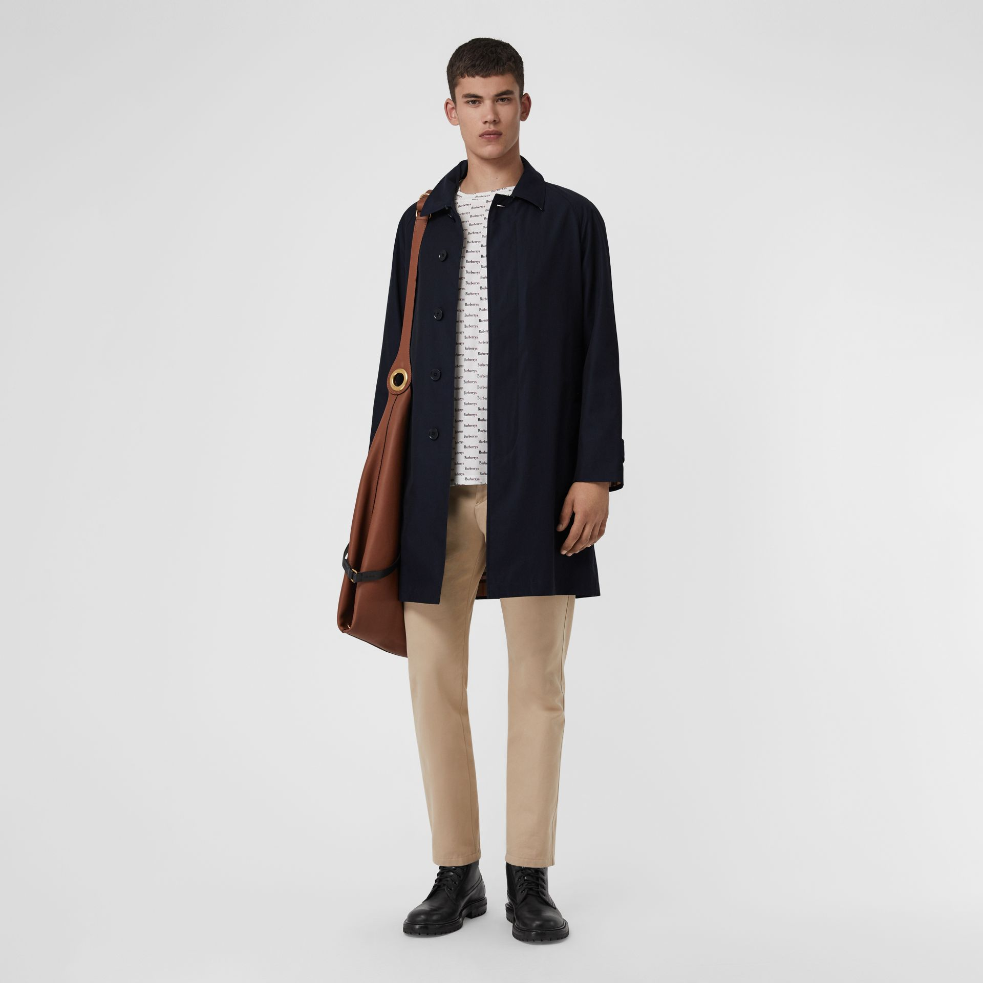 The Camden Car Coat in Blue Carbon - Men | Burberry - gallery image 0