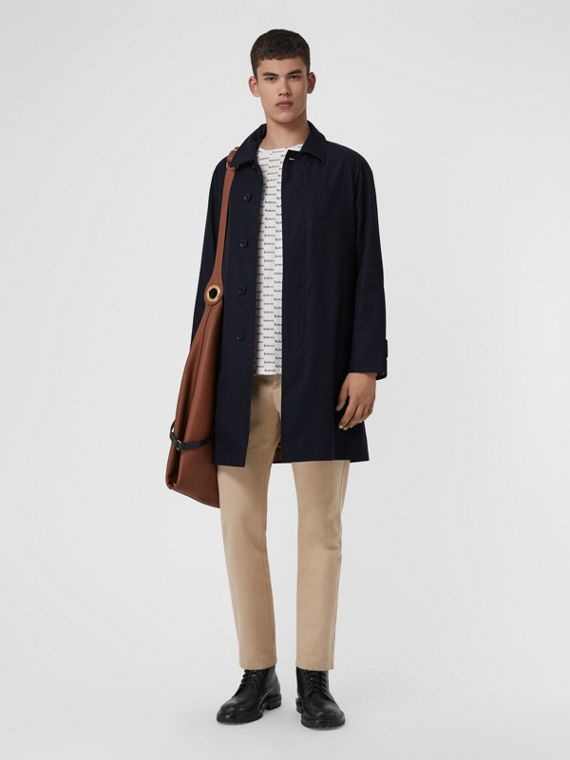The Camden Car Coat in Blue Carbon