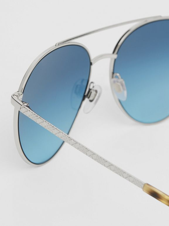Pilot Sunglasses in Pale Blue - Women | Burberry - cell image 1