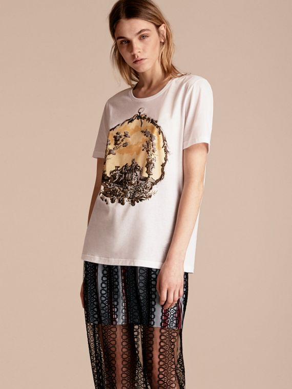 Wallpaper Print Cotton T-shirt
