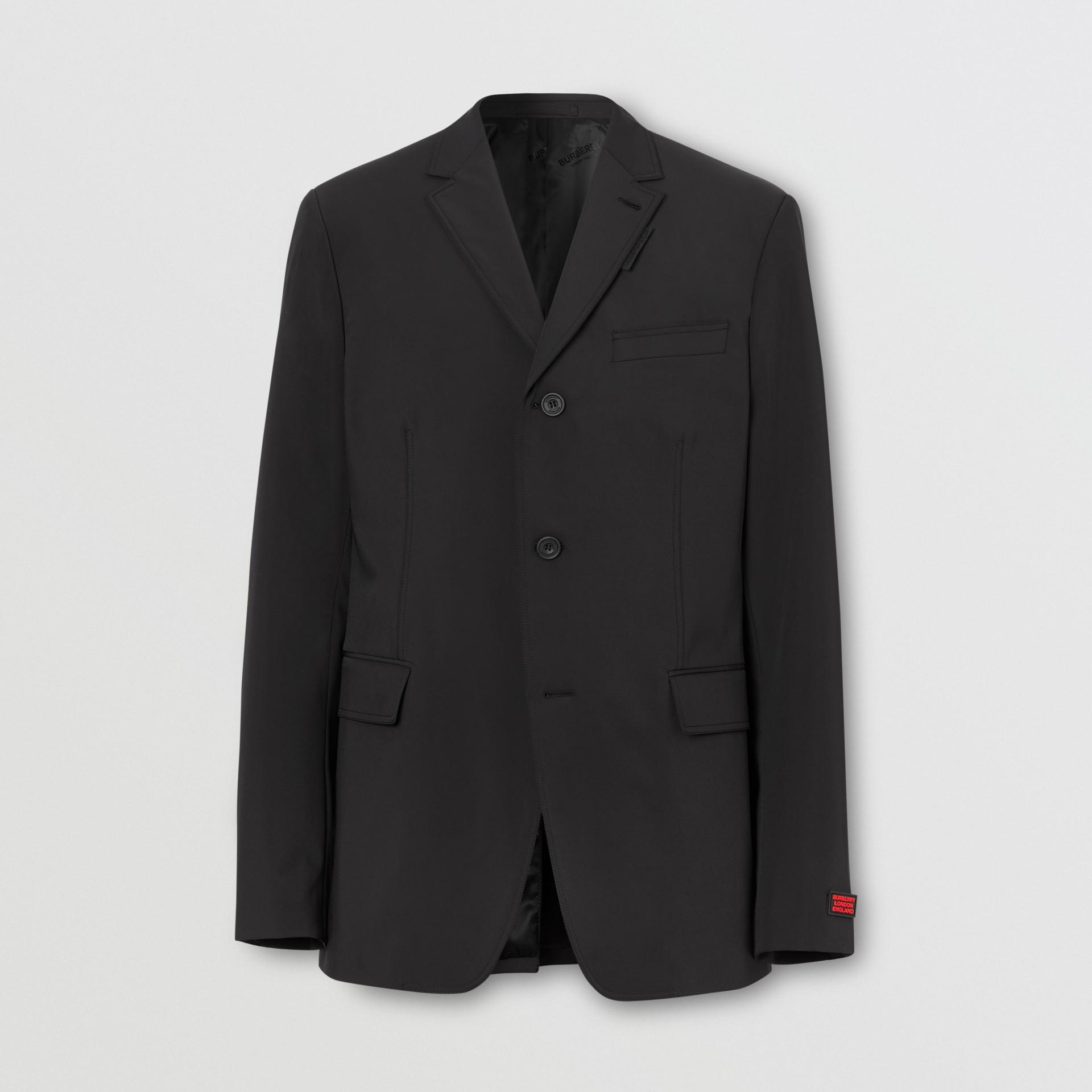 Veste de costume slim en nylon technique (Noir) - Homme | Burberry - photo de la galerie 3