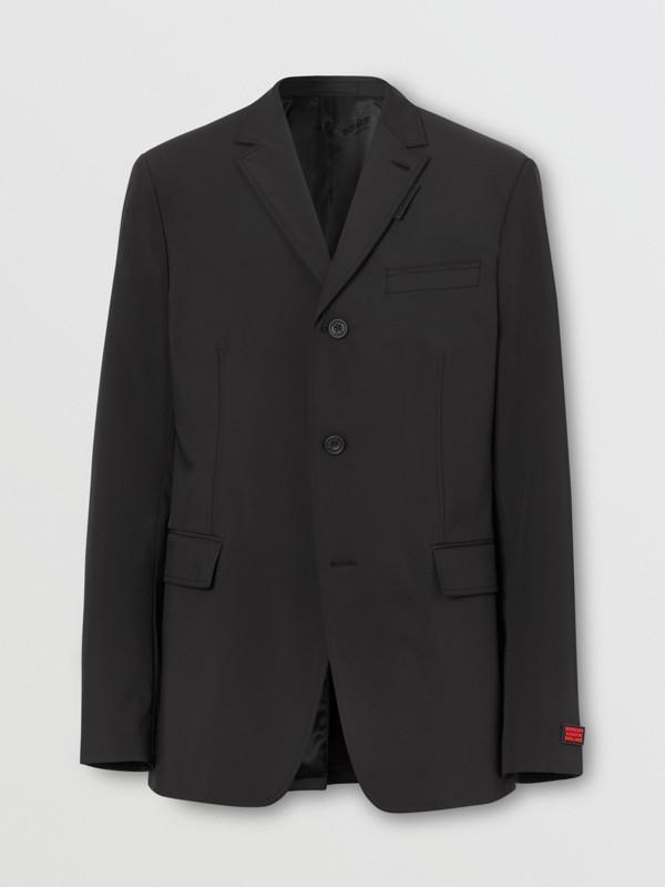 Veste de costume slim en nylon technique (Noir) - Homme | Burberry - cell image 3