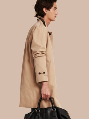 burberry trench outlet 5mmh  Cotton Gabardine Car Coat Honey