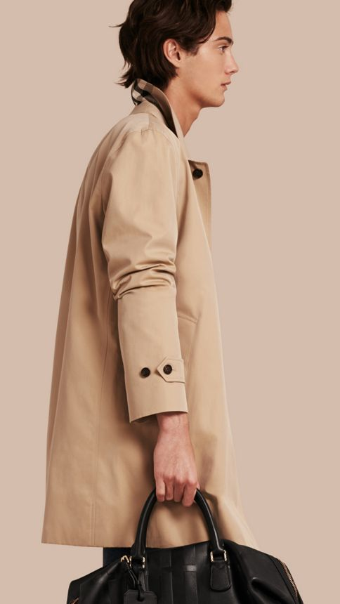 Honey Cotton Gabardine Car Coat Honey - Image 1
