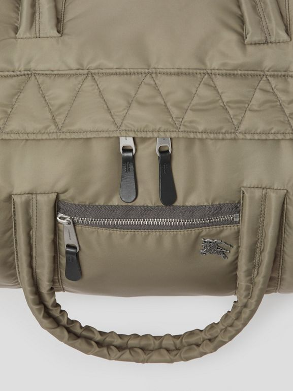 Large EKD Aviator Nylon and Leather Barrel Bag in Celadon - Men | Burberry United Kingdom - cell image 1