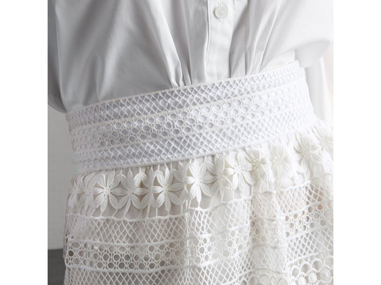 Macramé Lace Skirt in White - Women | Burberry - cell image 4