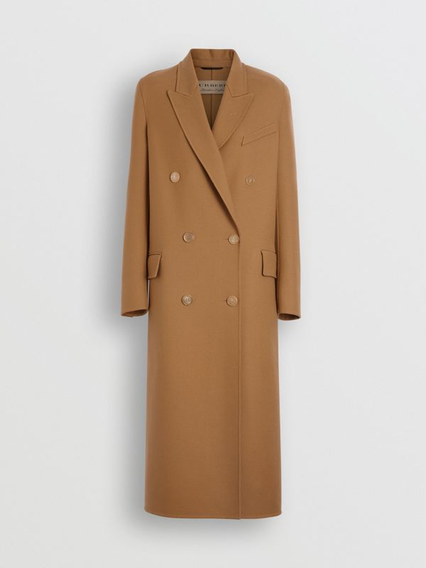 Double-breasted Wool Tailored Coat in Camel - Women | Burberry United Kingdom - cell image 3