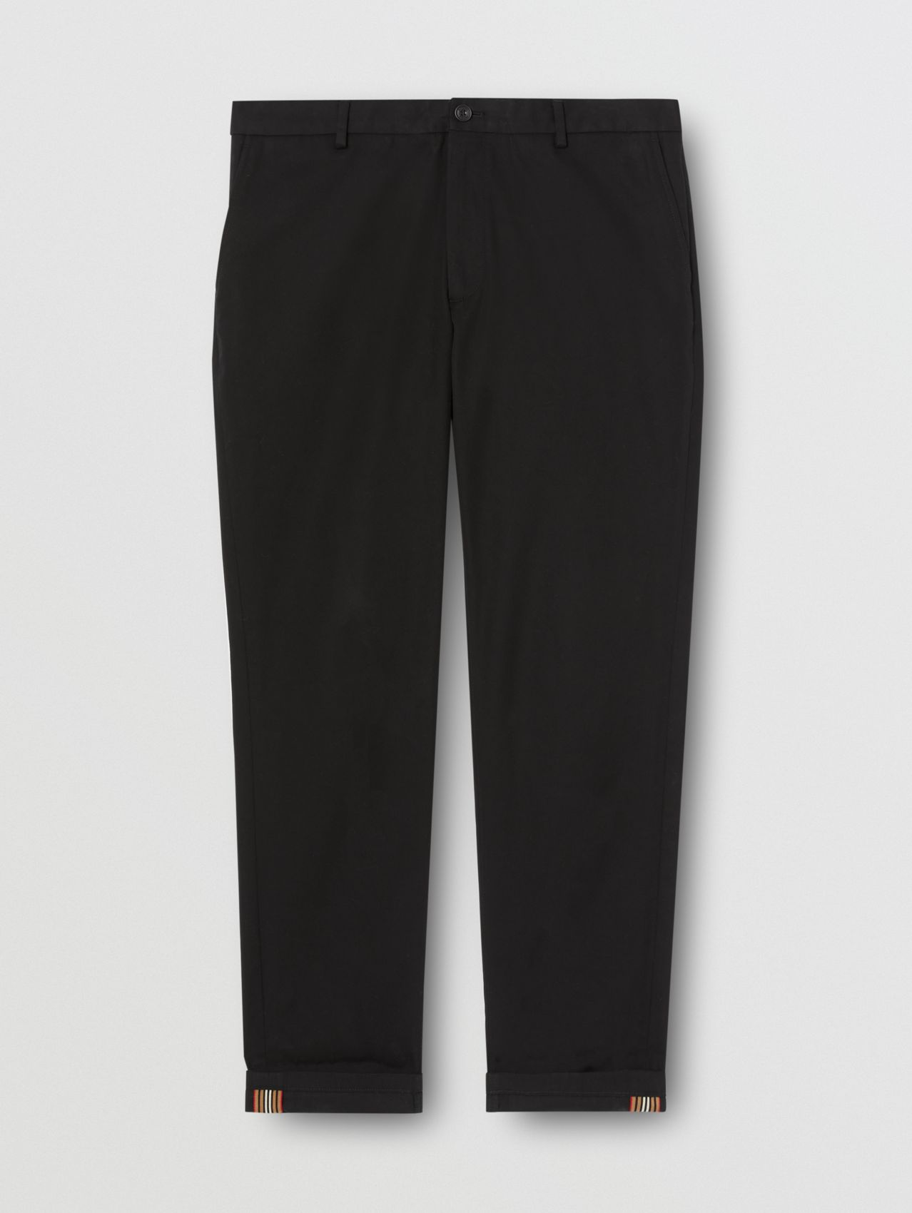 Slim Fit Cotton Chinos in Black