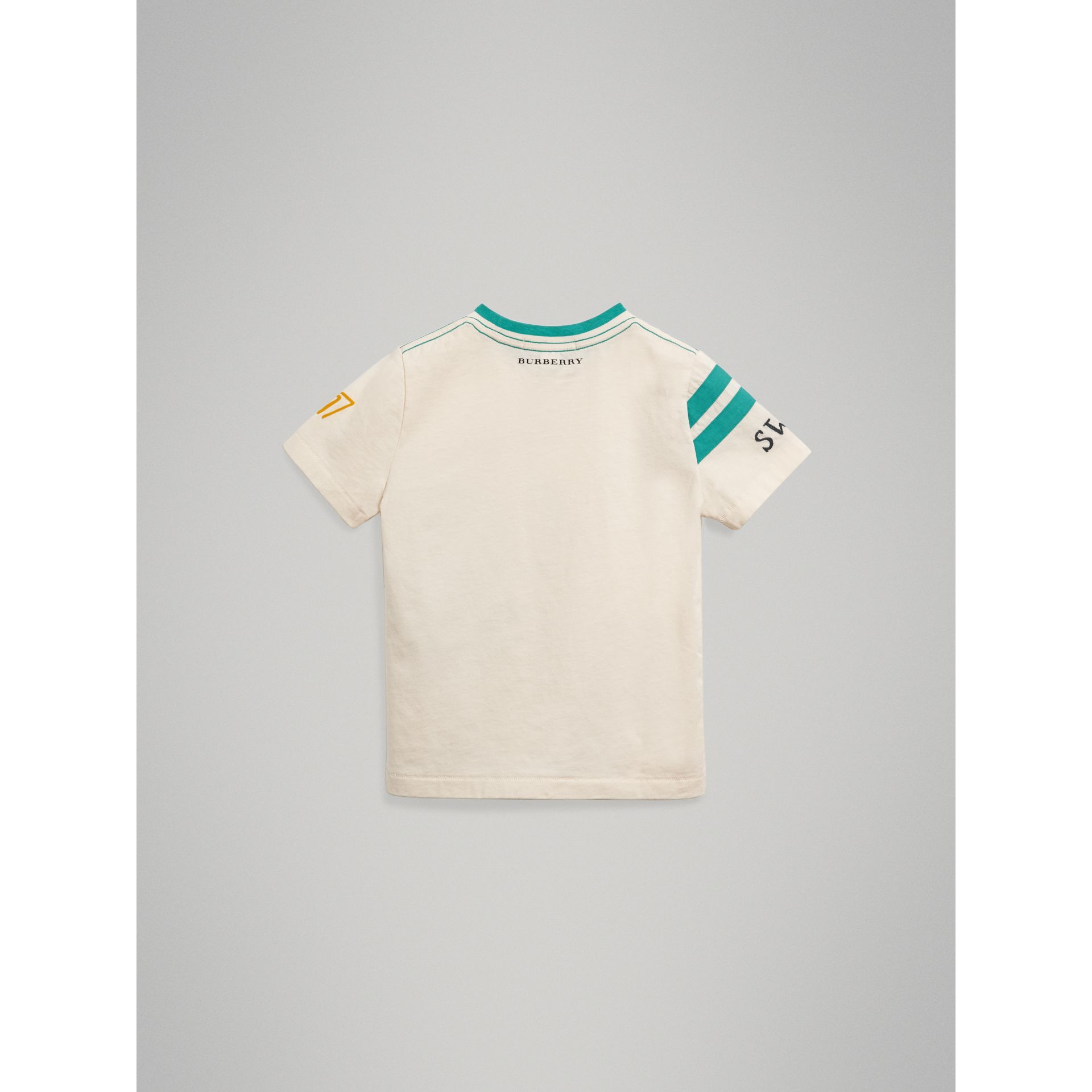 Adventure Motif Cotton T-shirt in White - Boy | Burberry - gallery image 3