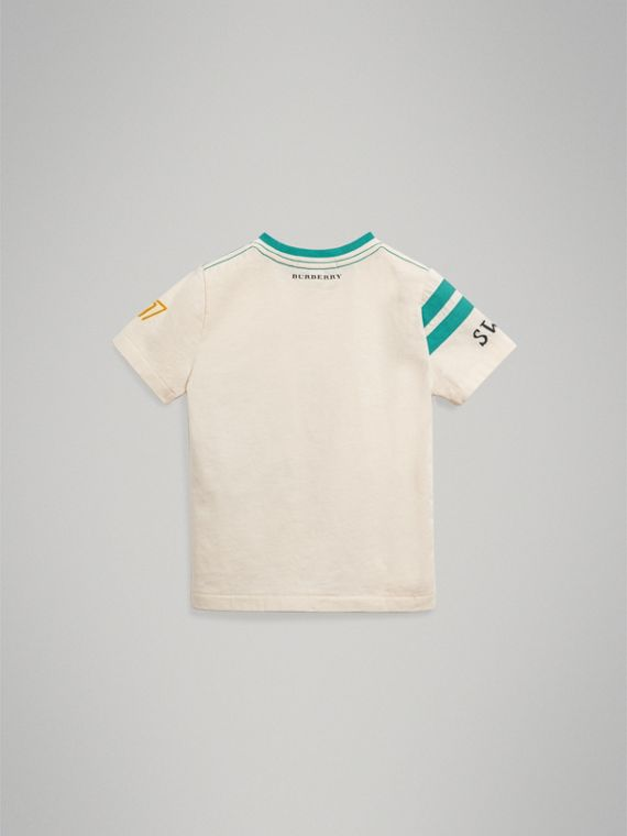 Adventure Motif Cotton T-shirt in White - Boy | Burberry Australia - cell image 3