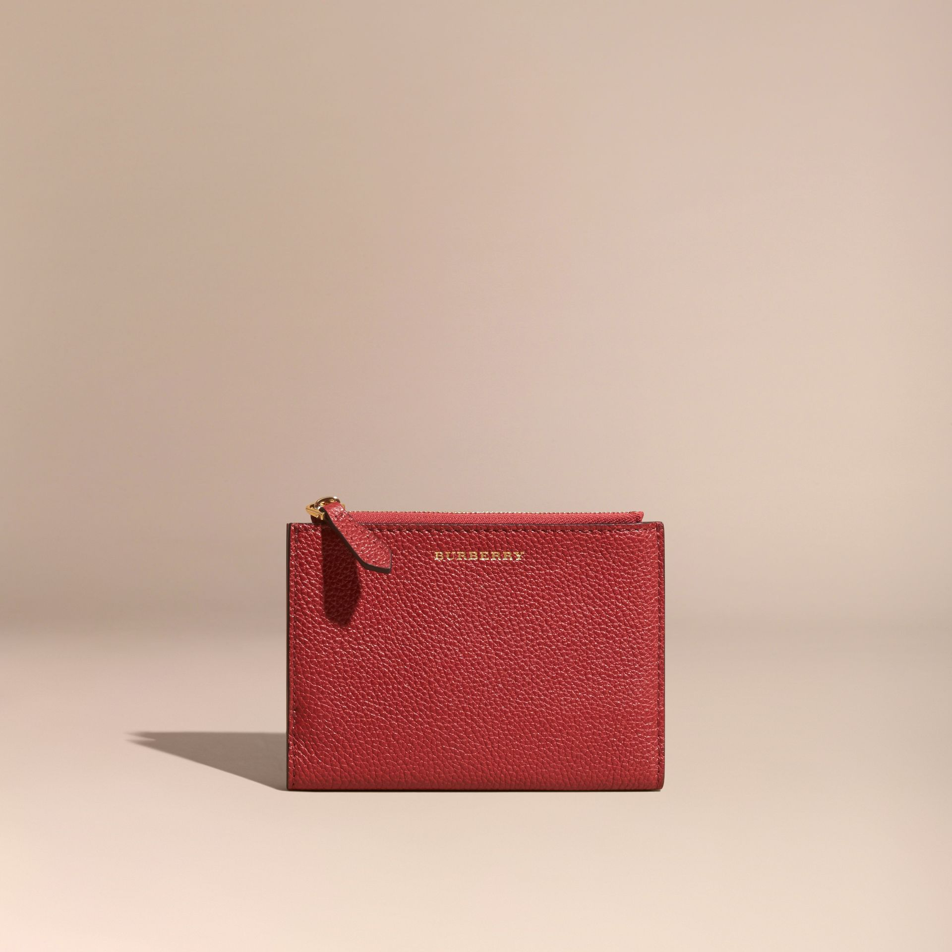 Leather Passport Wallet in Parade Red - gallery image 6