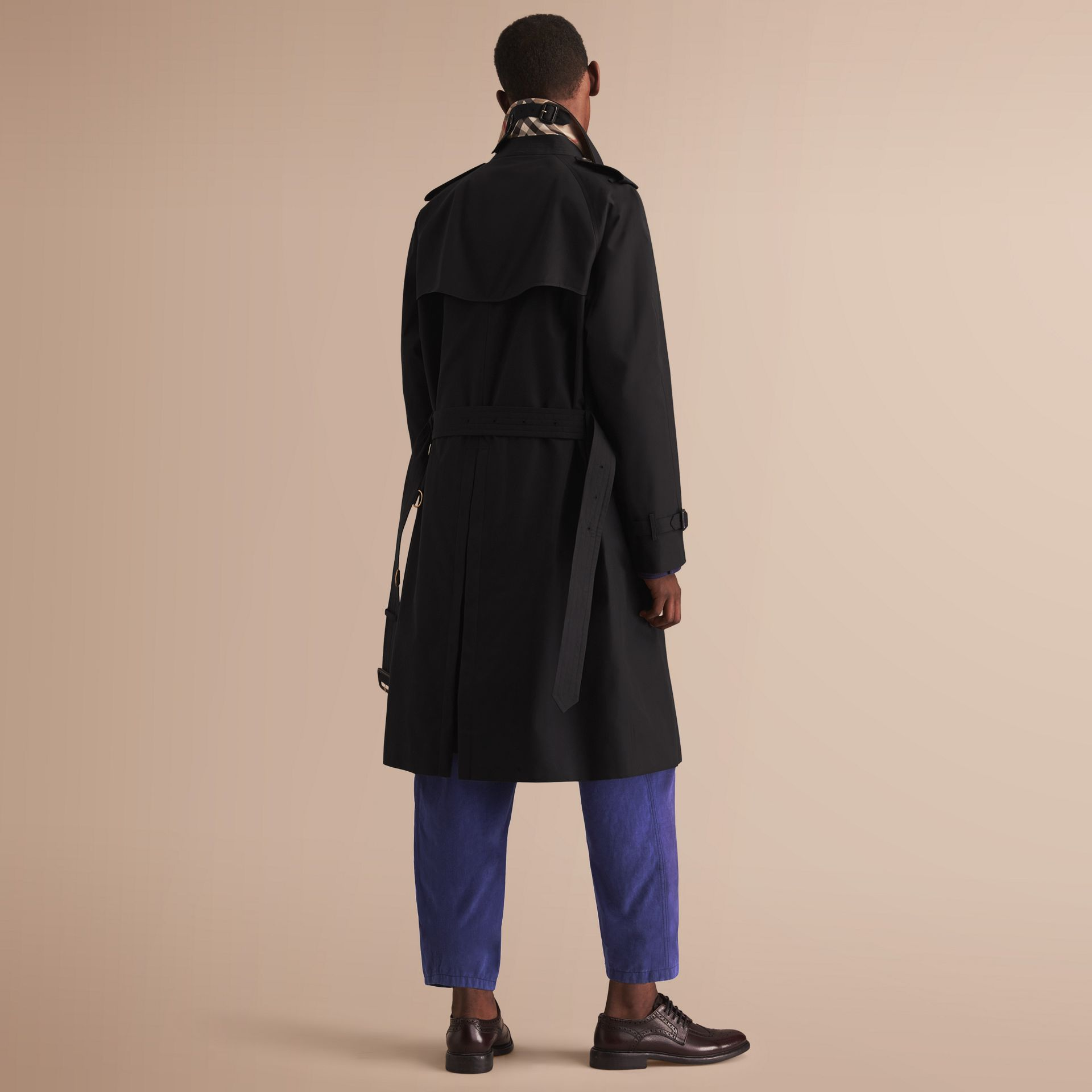 The Westminster – Long Heritage Trench Coat Black - gallery image 3