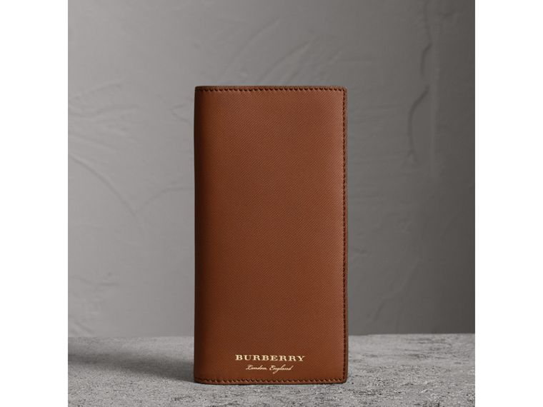 Trench Leather Continental Wallet in Tan - Men | Burberry - cell image 4