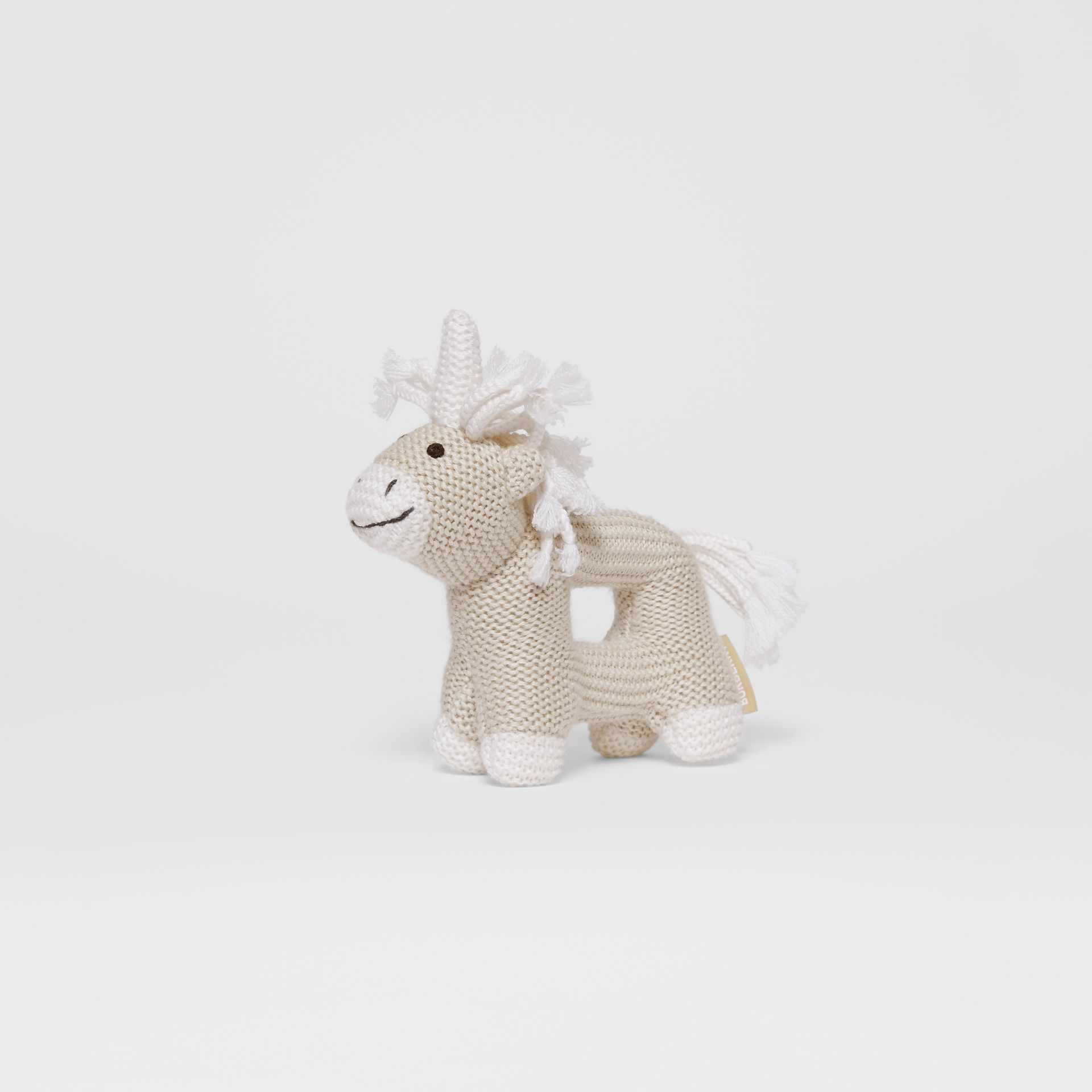 Unicorn Wool Silk Rattle in Oatmeal Melange - Children | Burberry - gallery image 3