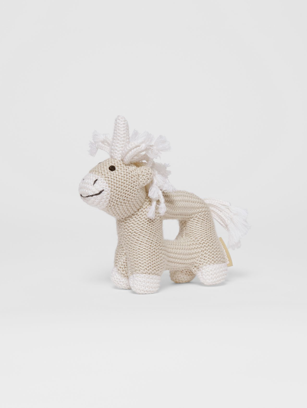 Unicorn Wool Silk Rattle (Oatmeal Melange)