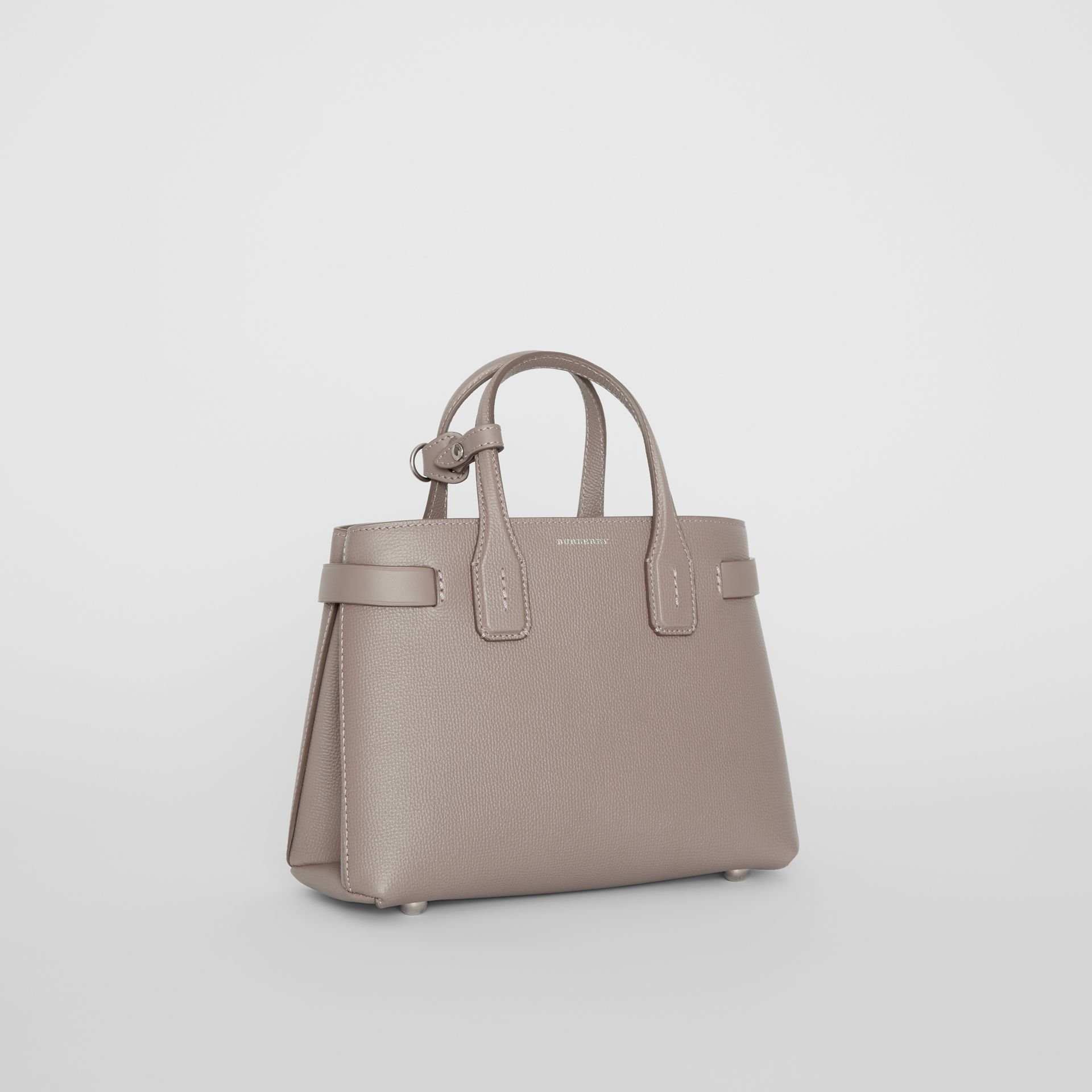 The Small Banner in Leather and Vintage Check in Taupe Brown - Women | Burberry - gallery image 0
