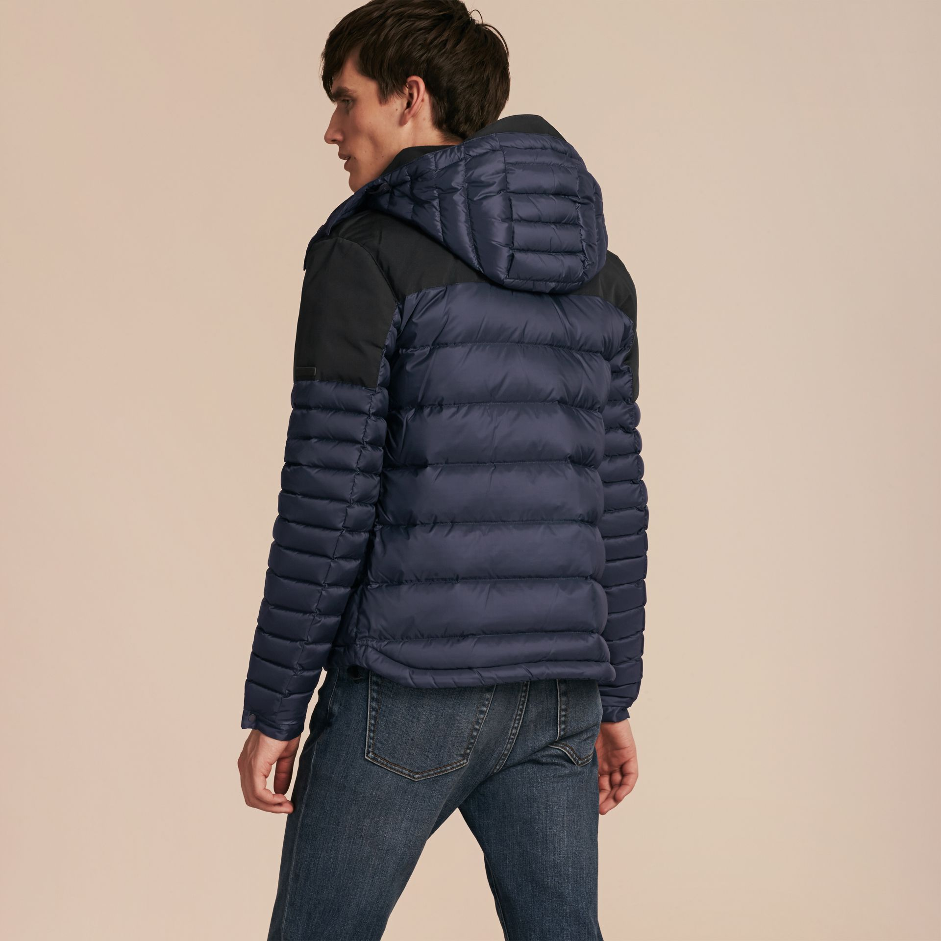 Navy Mid-weight Down-filled Technical Puffer Jacket Navy - gallery image 3