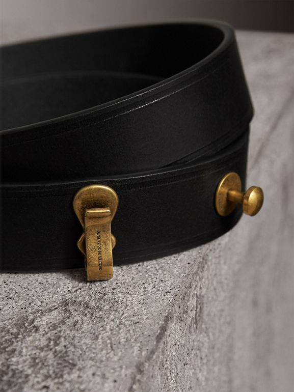 Bridle Leather Belt in Black - Women | Burberry Singapore - cell image 1