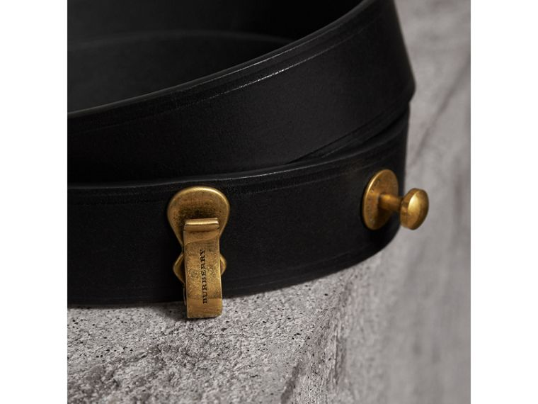 Bridle Leather Belt in Black - Women | Burberry Hong Kong - cell image 1