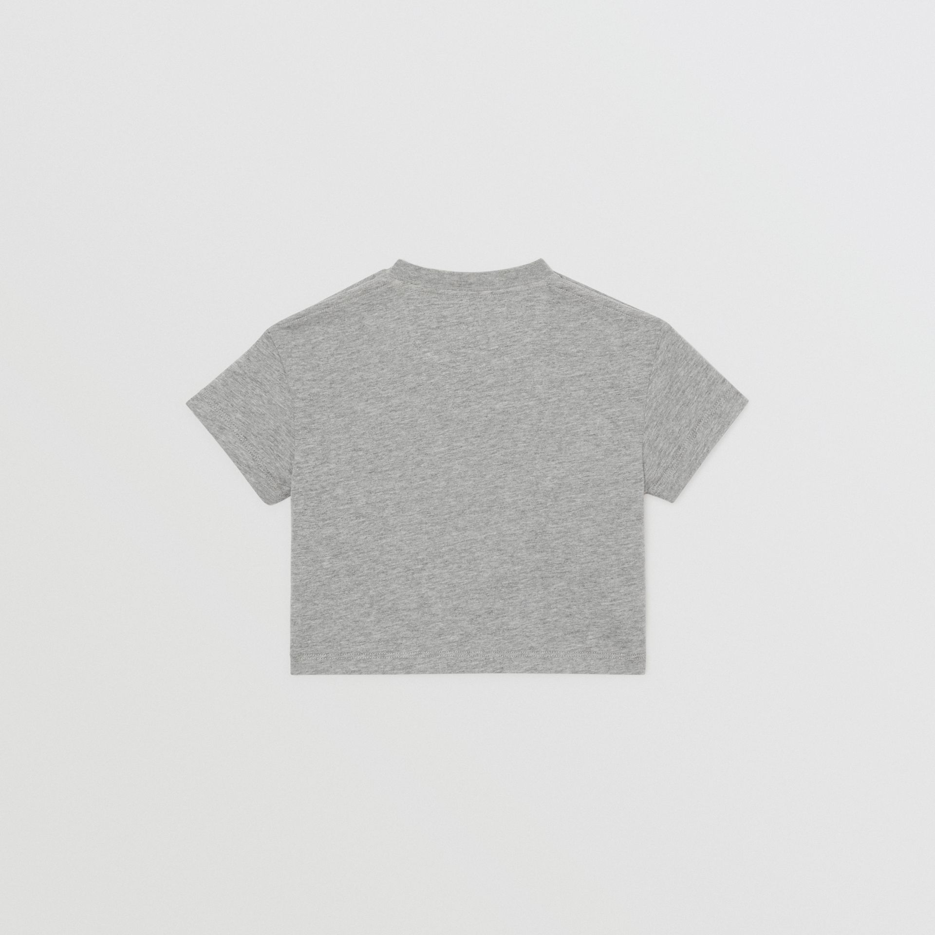 Logo Print Cotton T-shirt in Grey Melange - Children | Burberry Singapore - gallery image 3