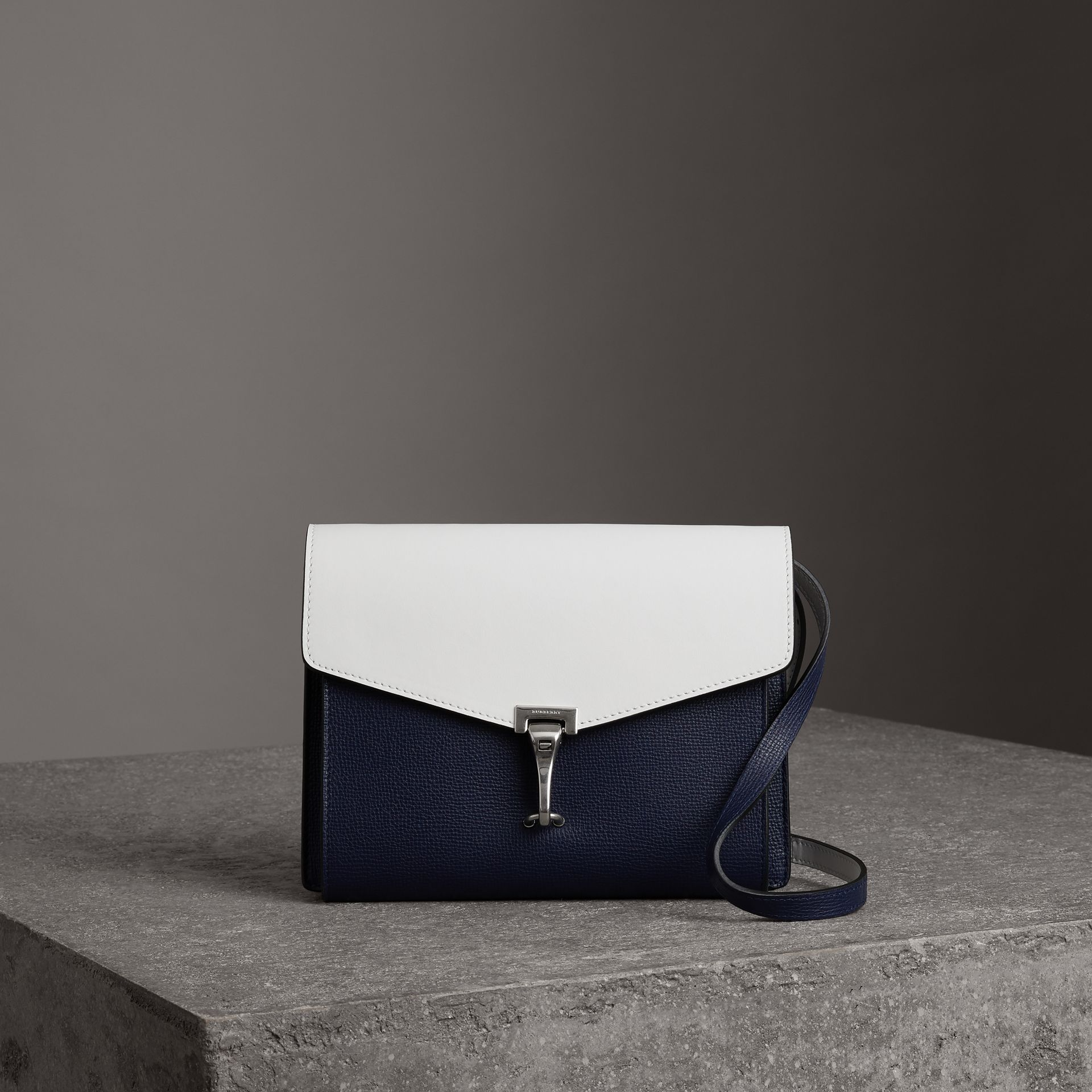 Two-tone Leather Crossbody Bag in Regency Blue/chalk White - Women | Burberry United Kingdom - gallery image 0