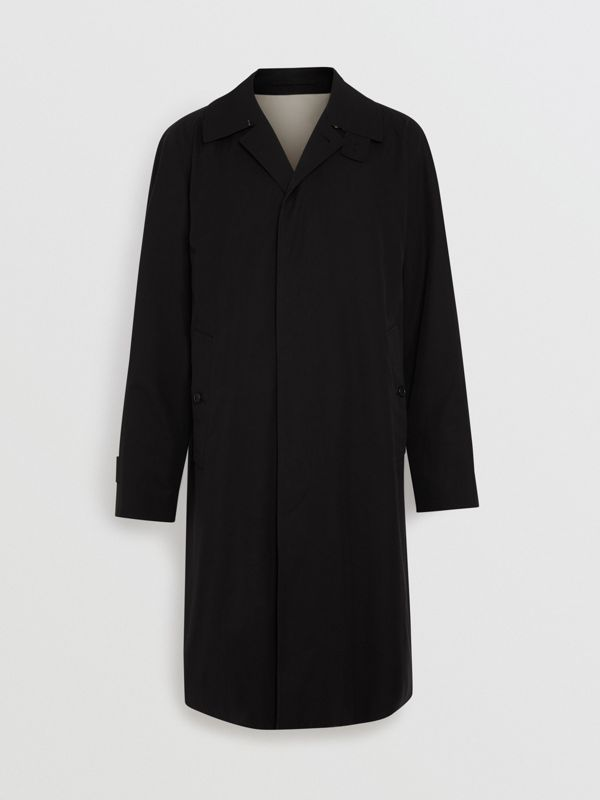 Tropical Gabardine Car Coat in Black - Men | Burberry Singapore - cell image 3