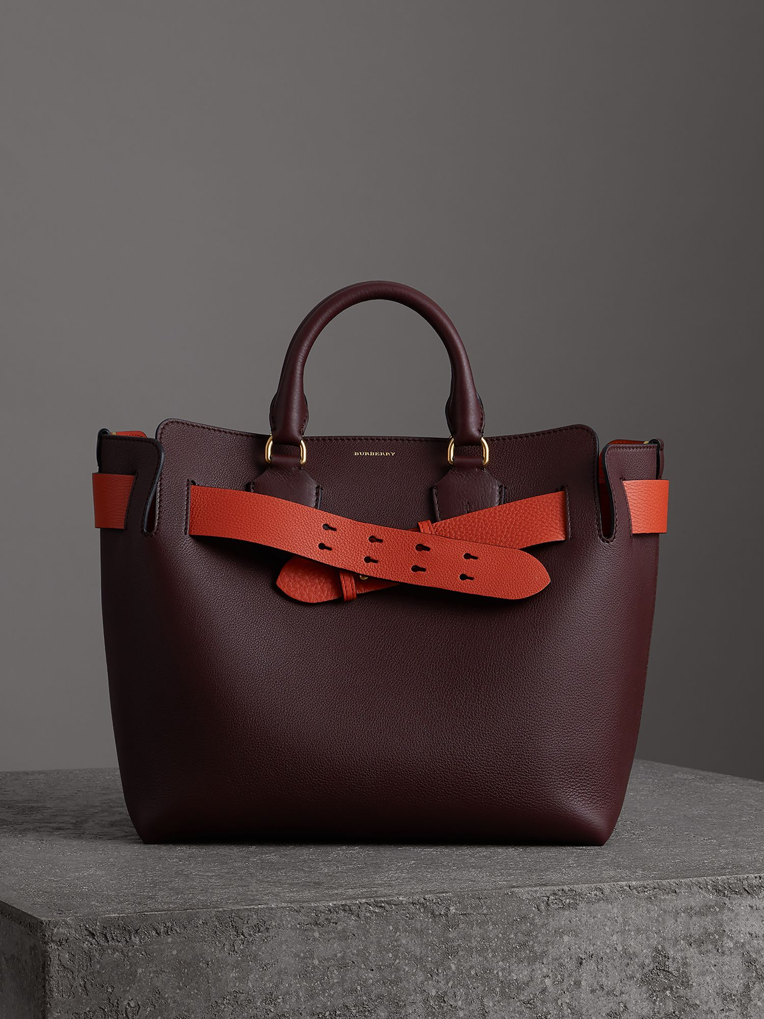 The Medium Belt Bag aus Leder (Tiefes Weinrot)