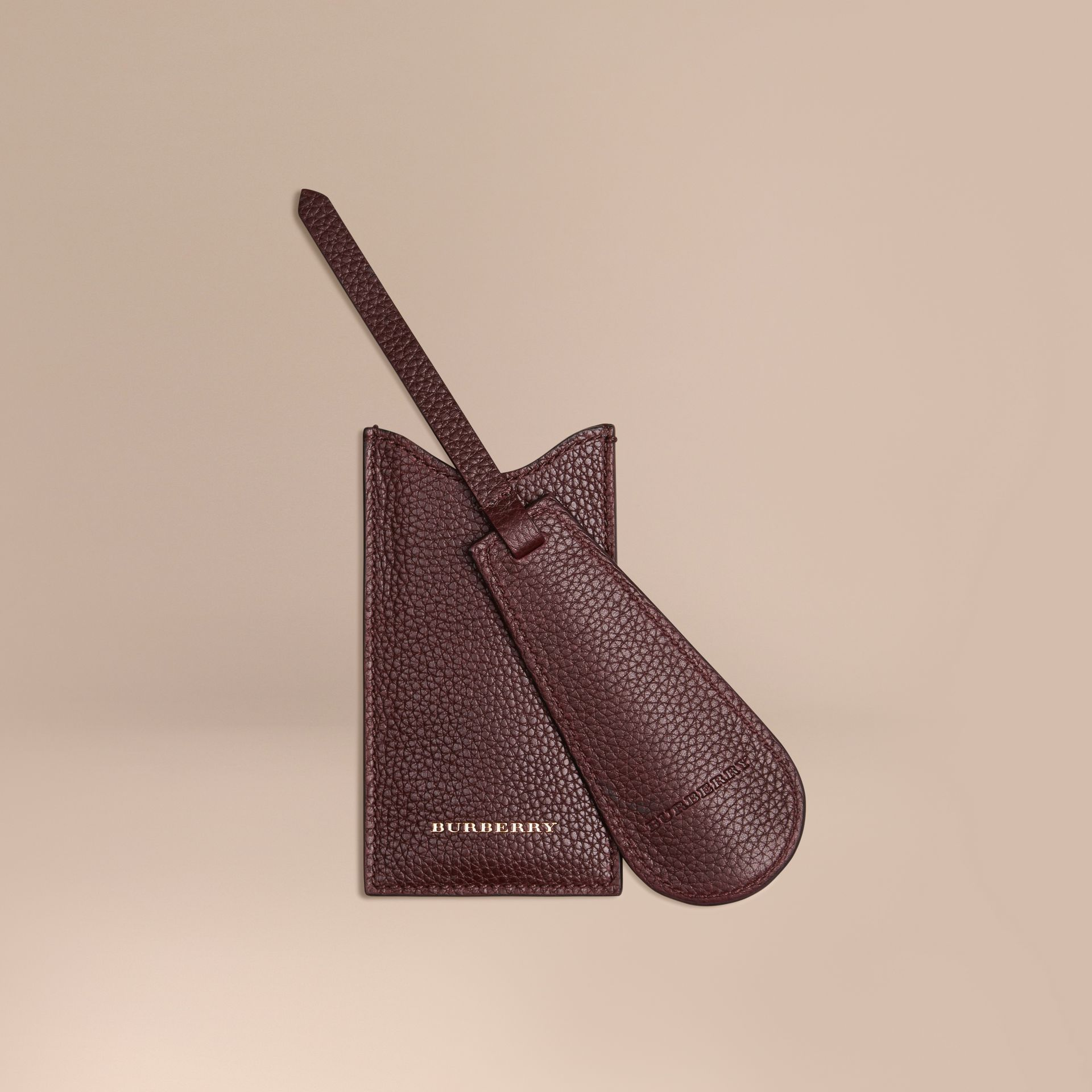 Leather Shoe Horn in Ebony Red - Men | Burberry - gallery image 1